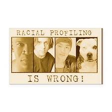 racialprofilinwrong-1 Rectangle Car Magnet