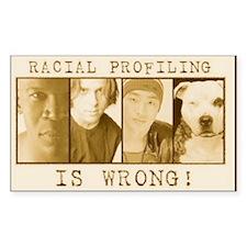 racialprofilinwrong-1 Decal