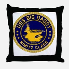 USS BIG DADDY NIMITZp Throw Pillow