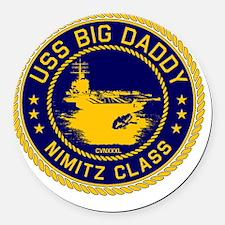 USS BIG DADDY NIMITZp Round Car Magnet
