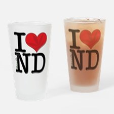 I Love contrabaND Drinking Glass