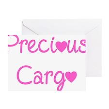 Precious Cargo black Greeting Card