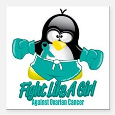 """Ovarian-Cancer-Fighting- Square Car Magnet 3"""" x 3"""""""