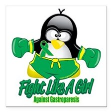 """Gastroparesisc-Fighting- Square Car Magnet 3"""" x 3"""""""