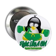 "Gastroparesisc-Fighting-Penguin 2.25"" Button"