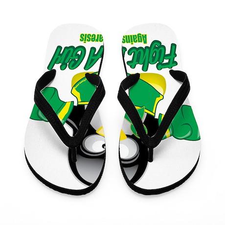 Gastroparesisc-Fighting-Penguin Flip Flops