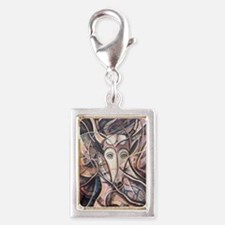 African Antelope 4-Ivory Silver Portrait Charm