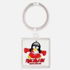 AIDS-Fighting-Penguin Square Keychain