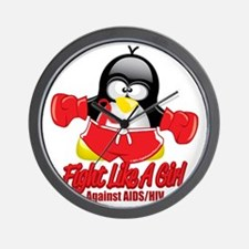 AIDS-Fighting-Penguin Wall Clock