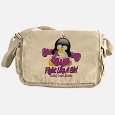 Crohns-Disease-Fighting-Penguin Messenger Bag