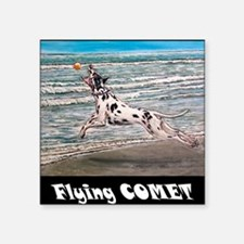 """10x10 flying Comet- Square Sticker 3"""" x 3"""""""