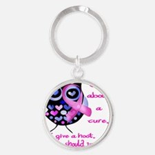 owl_give_a_hoot Round Keychain