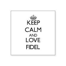 Keep Calm and Love Fidel Sticker