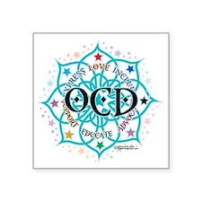 "OCD-Lotus Square Sticker 3"" x 3"""