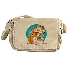 OCD-Cat-blk Messenger Bag
