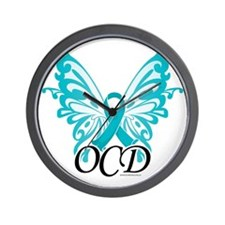 OCD-Butterfly-Ribbon Wall Clock