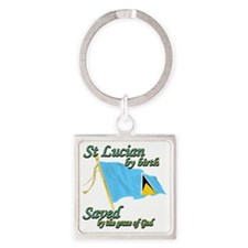 stlucianew Square Keychain