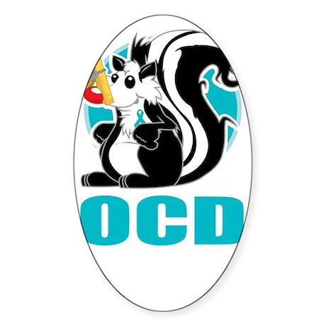 OCD-Stinks-blk Sticker (Oval)