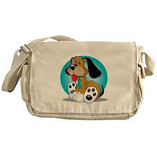 OCD-Dog-blk Messenger Bag