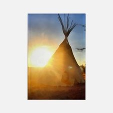 Tee Pee Painting Rectangle Magnet