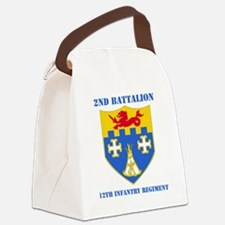 2-12 IN RGT WITH TEXT Canvas Lunch Bag