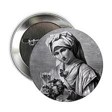 """VintageWomenThrowPillow 2.25"""" Button"""