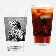 VintageWomenThrowPillow Drinking Glass