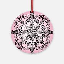 FleurMeditatPink4sqP Round Ornament