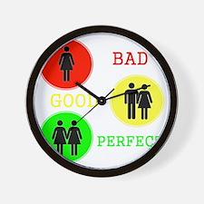 Bi Girl Wall Clock