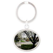 09basic Oval Keychain