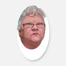 Agnes Quackenbush - Get A Grip Oval Car Magnet