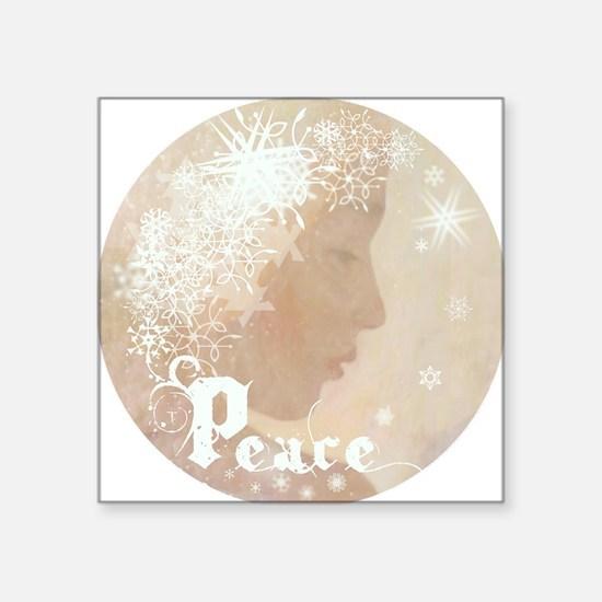 """peace water angel rondo b4L Square Sticker 3"""" x 3"""""""