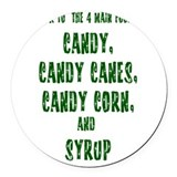 Elf food groups shirts Round Car Magnets