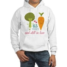 65 Year Anniversary Veggie Couple Jumper Hoody