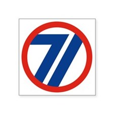 "71ST Infantry Division Square Sticker 3"" x 3"""