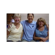 Beth, Liz, Regina 8.25.09 Rectangle Magnet