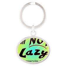 Lazy2 Oval Keychain