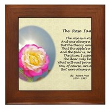 Robert Frost Poetry Poster, The Rose F Framed Tile