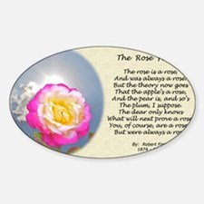 Robert Frost Poetry Poster, The Ros Sticker (Oval)