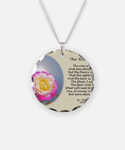 Robert Frost Poetry Poster,  Necklace