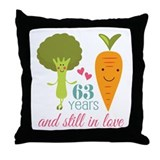 63rd wedding anniversary Throw Pillows
