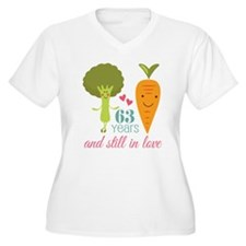 63 Year Anniversary Veggie Couple T-Shirt