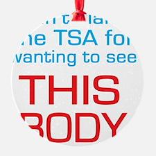 cant blame the tsa Ornament