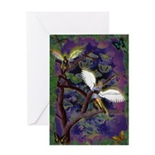 nocne aniolki/night little angels Greeting Card