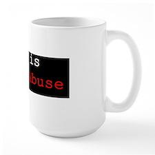 war is child abuse sticker Mug