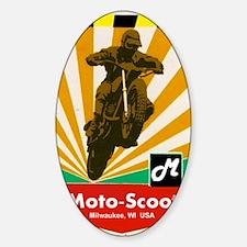 MOTOCROSS VINTAGE Sticker (Oval)