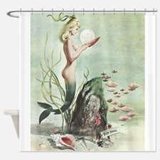 Retro Pin Up 1950s Mermaid with School of Fish Sho