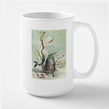 Retro Pin Up 1950s Mermaid with School of Fish Mug