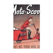 moto-scoot delivery Decal