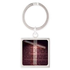 John 3:16 Square Keychain